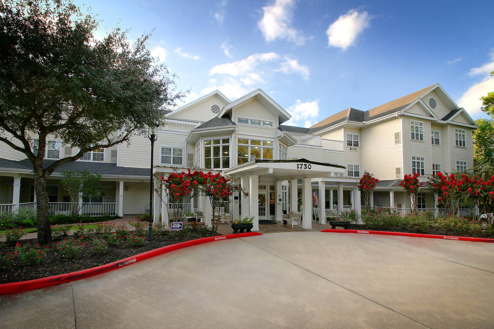 View of our entrace to Reunion Court of The Woodlands in The Woodlands, Texas