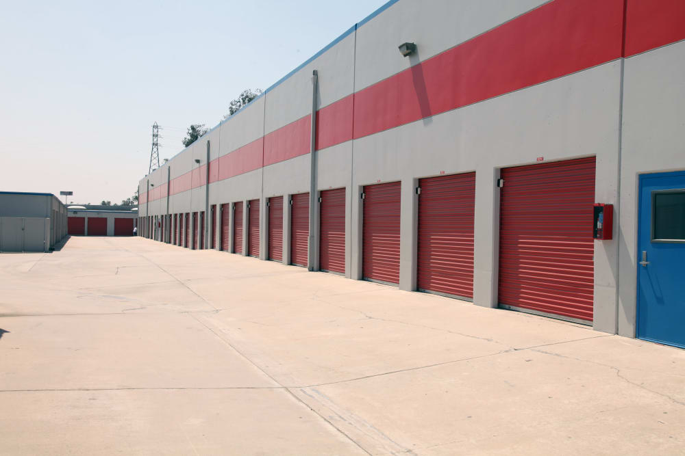 Outdoor units at Trojan Storage in Colton, California