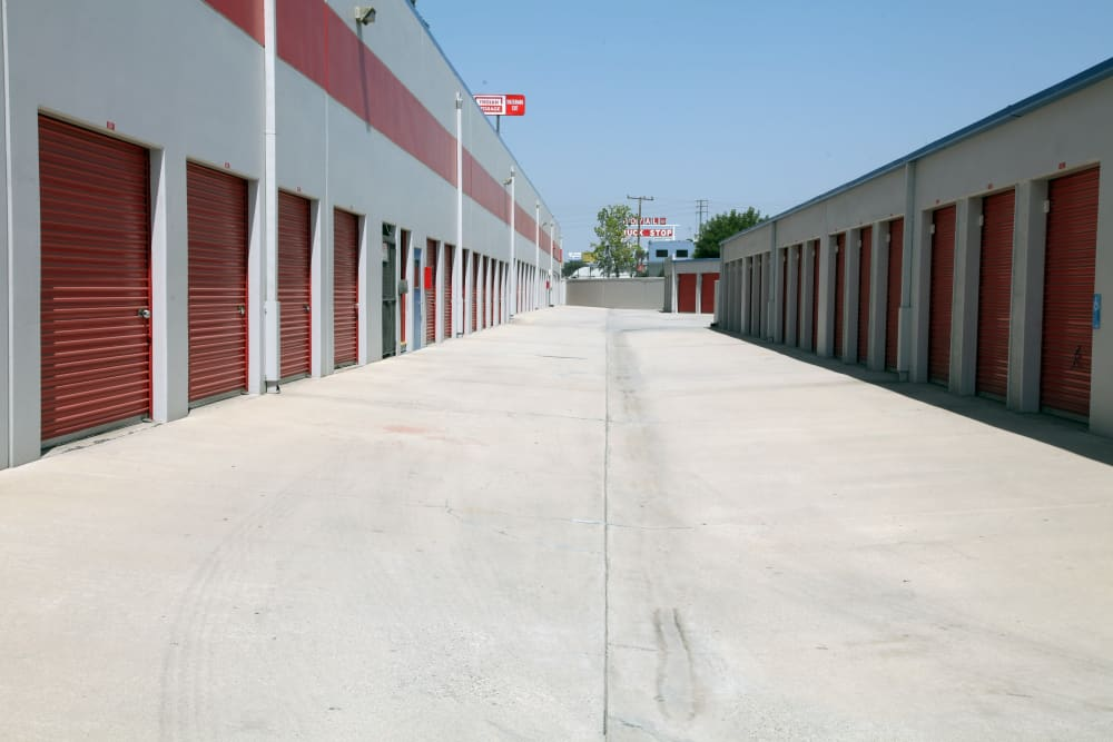 Exterior units at Trojan Storage in Colton, California