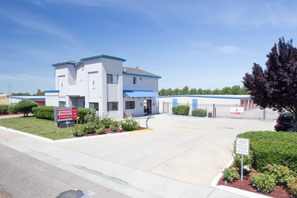 Main office seating at Trojan Storage in Elk Grove, California