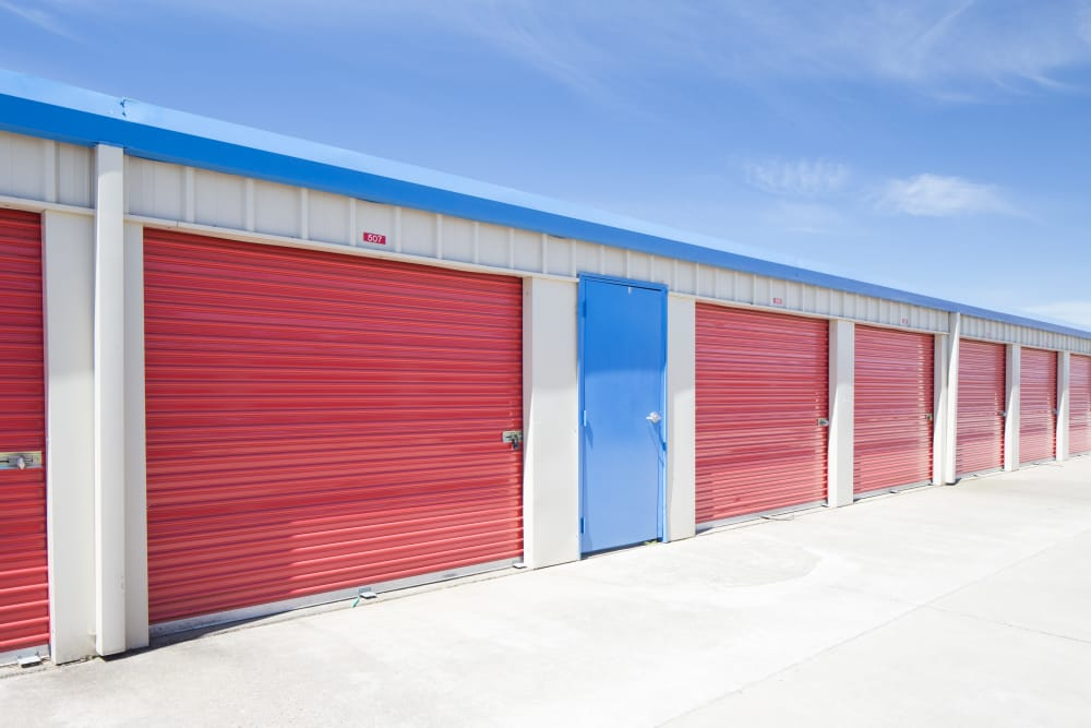 Exterior units at Trojan Storage in Elk Grove, California
