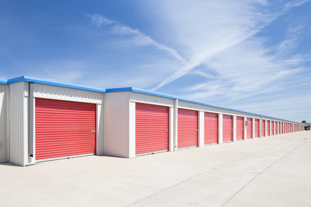 Outside units at Trojan Storage in Elk Grove, California