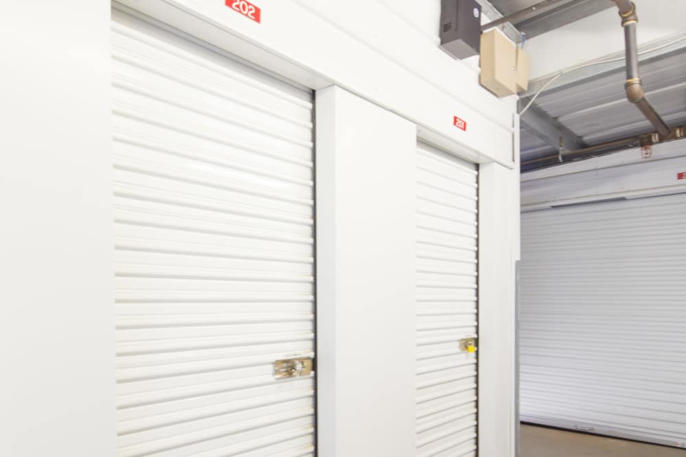 Climate-controlled units at Trojan Storage in Elk Grove, California