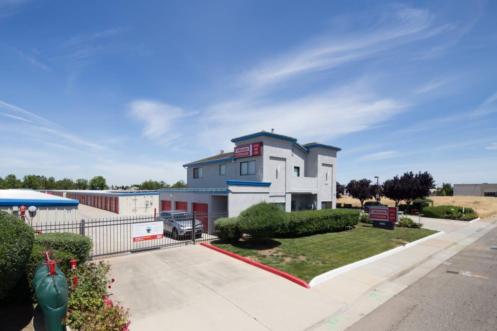 Exit at Trojan Storage in Elk Grove, California