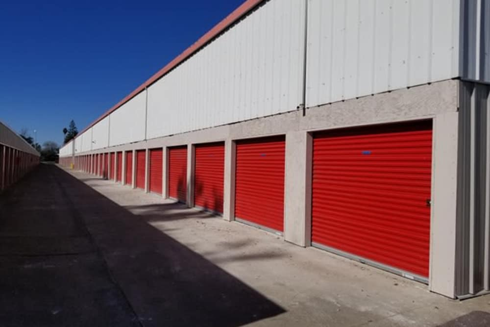 Exterior units at Trojan Storage in Sacramento, California