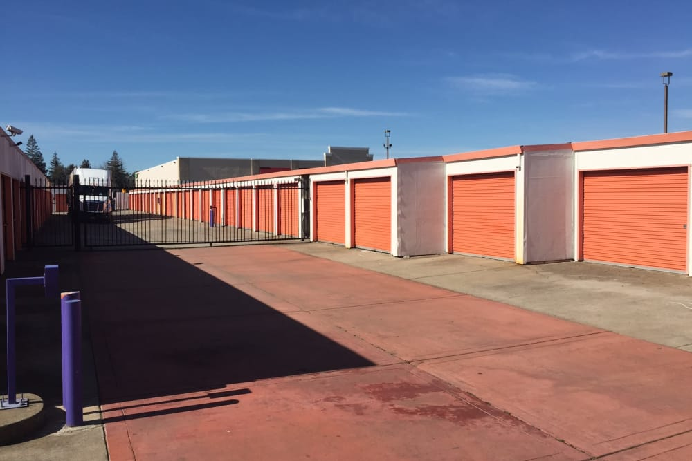Gated access to Trojan Storage in Sacramento, California