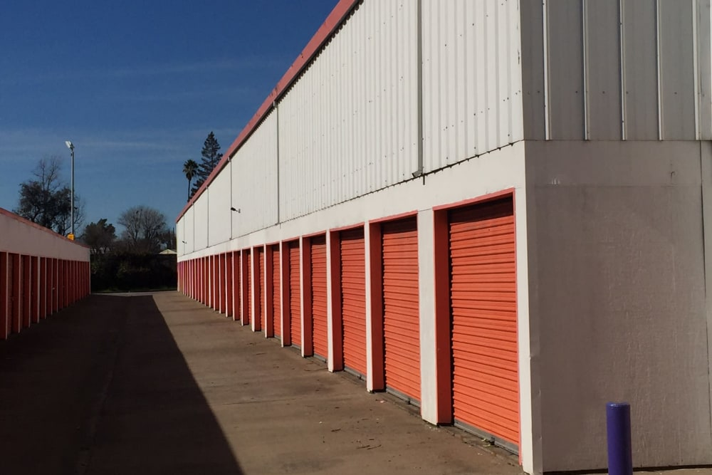 Outside units at Trojan Storage in Sacramento, California
