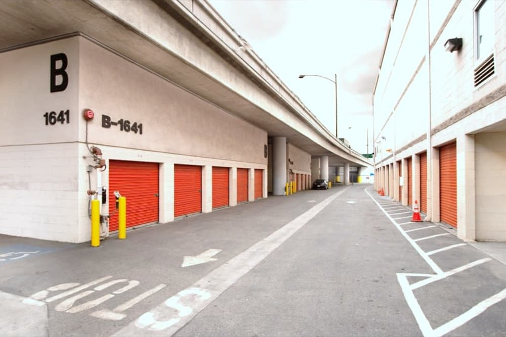 Drive-up storage at Fort Self Storage in Los Angeles, California