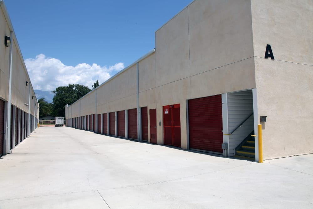 Drive-up units to Trojan Storage in Ontario, California