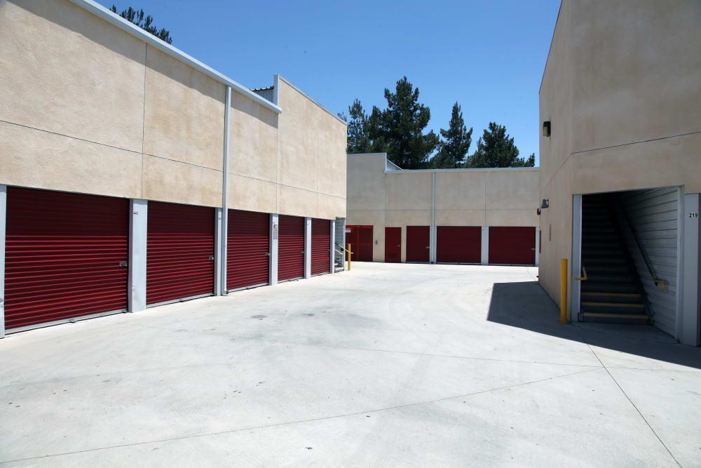 Ground-floor access at Trojan Storage in Ontario, California