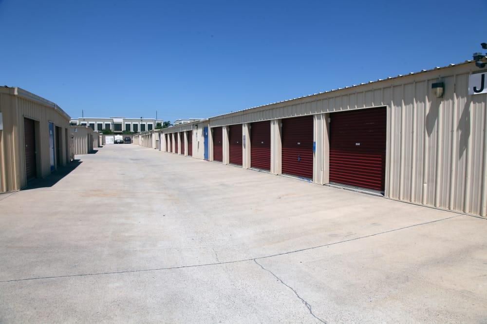 Ground-level storage Trojan Storage in Rancho Cucamonga, California