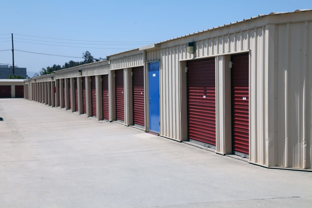 Outdoor units at Trojan Storage in Rancho Cucamonga, California