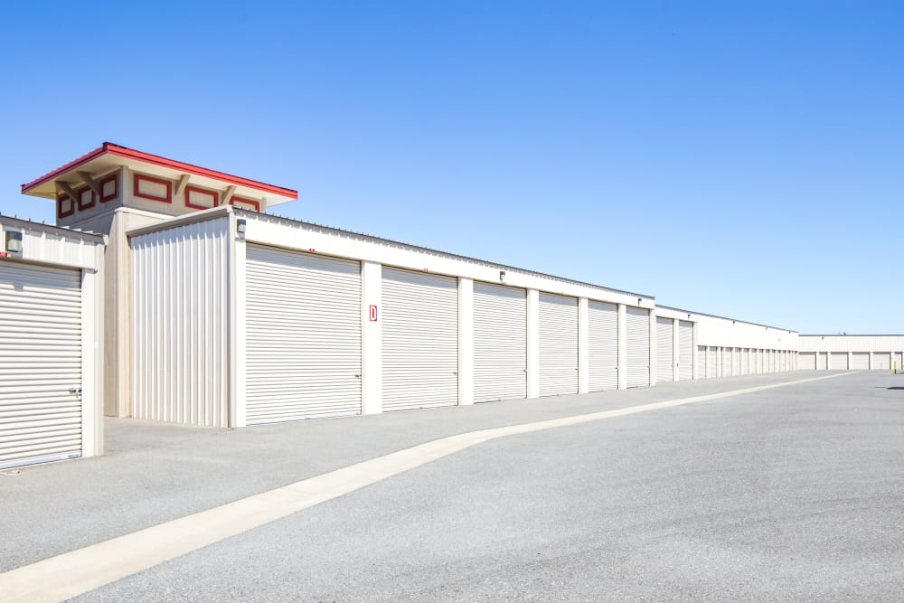 Ample parking at Trojan Storage in Rocklin, California