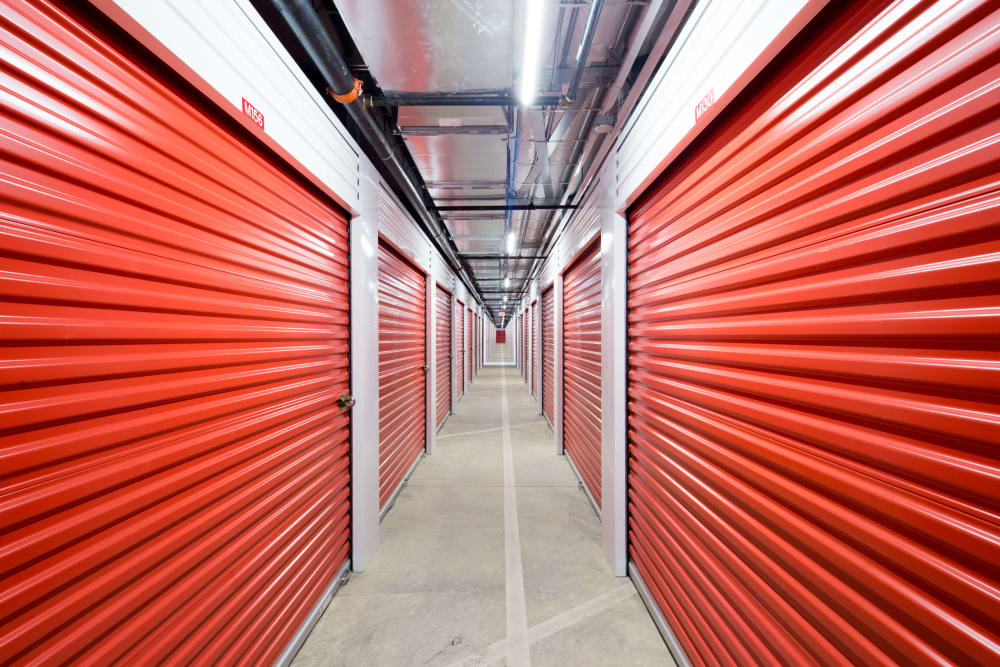 Large interior storage unit's available at Trojan Storage in Rocklin, California