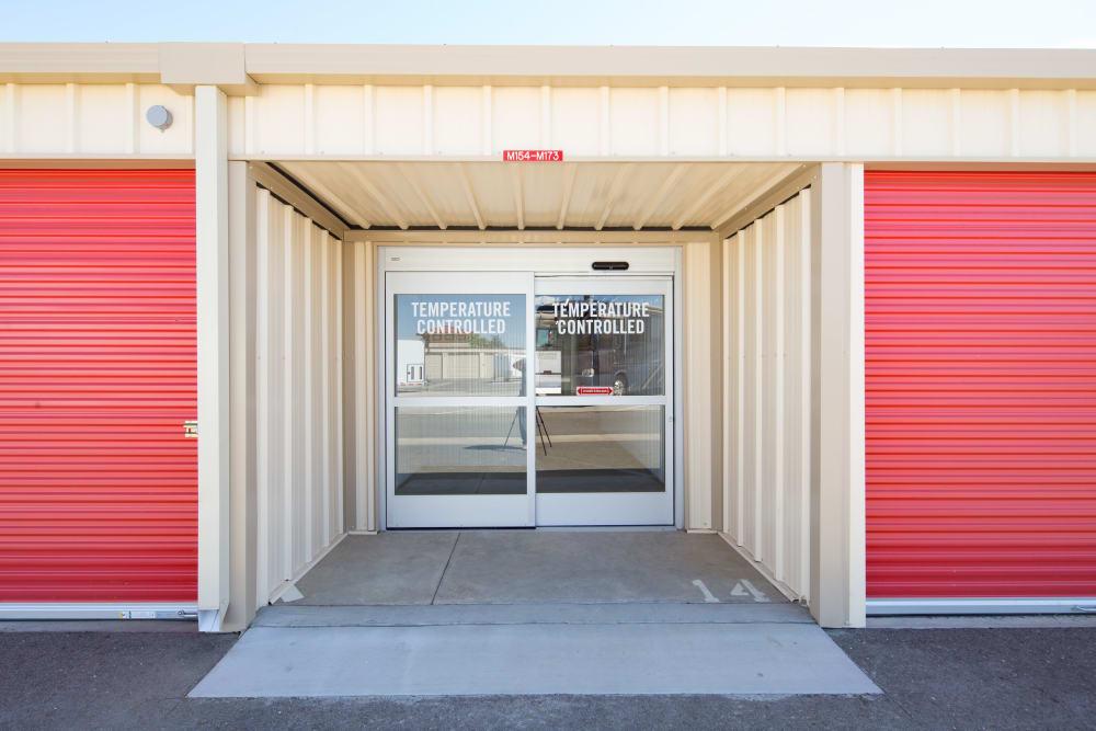 Entrance to interior units at Trojan Storage in Rocklin, California