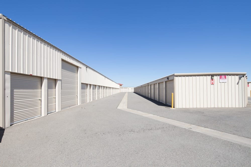 Drive up units to Trojan Storage in Rocklin, California