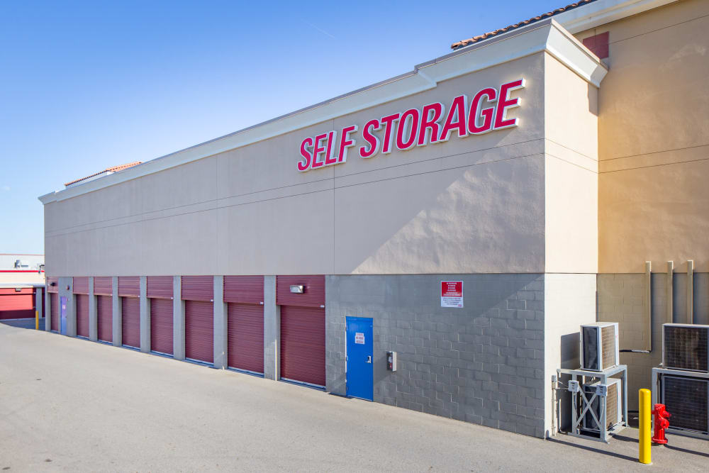Exterior storage units at Trojan Storage in Roseville, California
