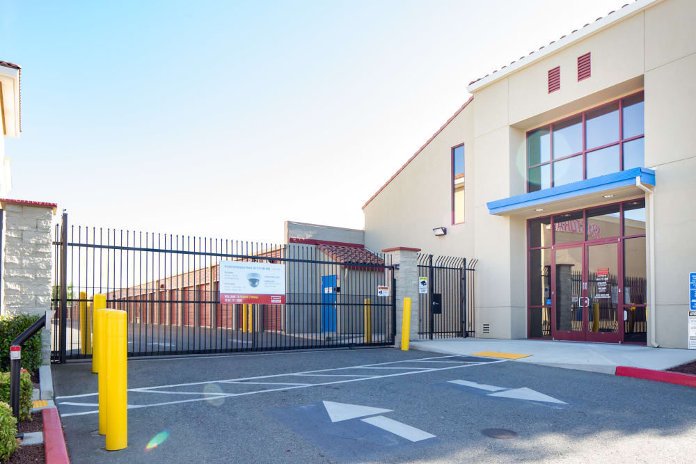 Keypad entrance at Trojan Storage in Roseville, California