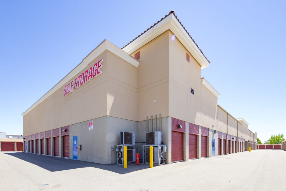 Drive-up units at Trojan Storage in Roseville, California