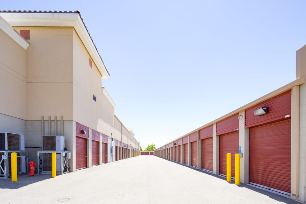 Exterior units at Trojan Storage in Roseville, California