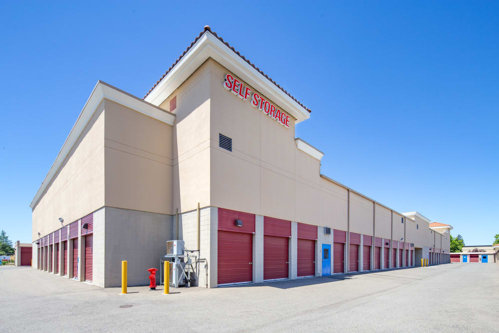 Ample parking at Trojan Storage in Roseville, California