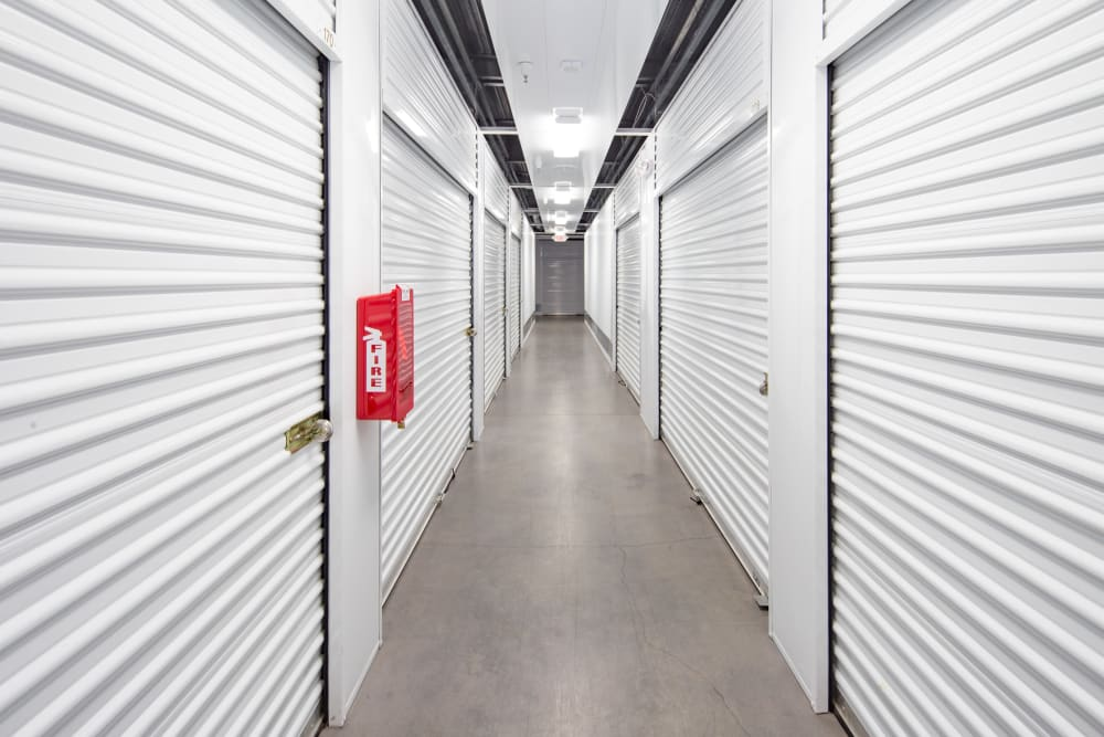 Interior locker units at Trojan Storage in Roseville, California