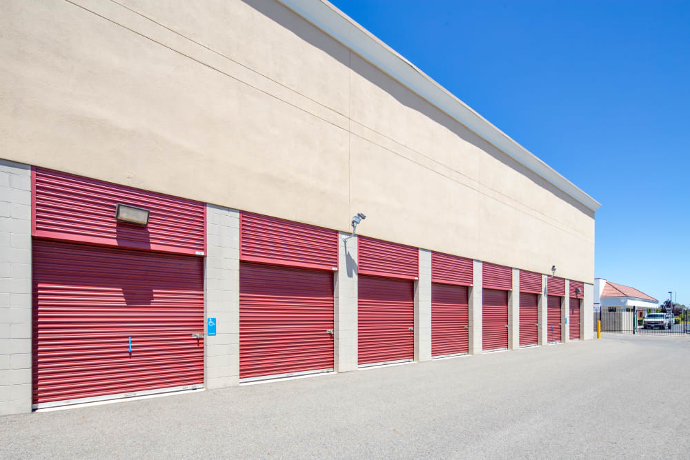 Exterior units left side view at Trojan Storage in Roseville, California
