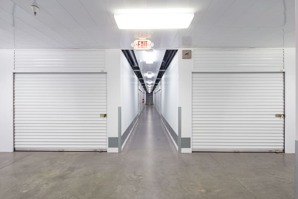 Interior storage units at Trojan Storage in Roseville, California