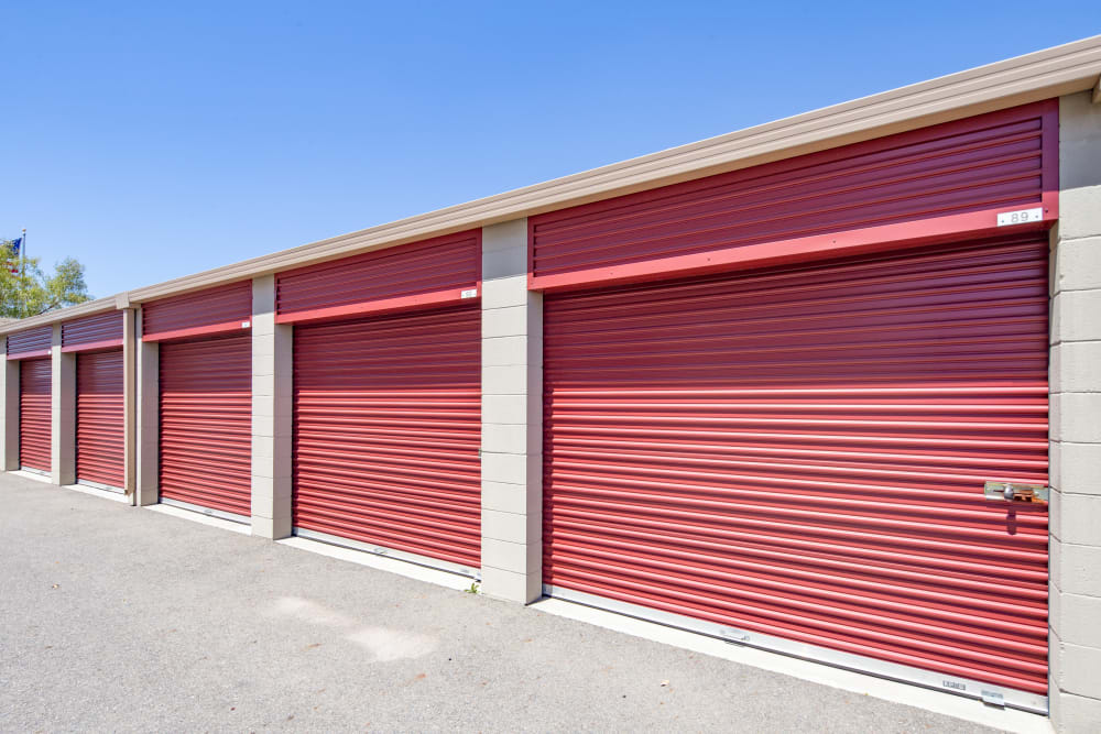 Exterior units right side view at Trojan Storage in Roseville, California