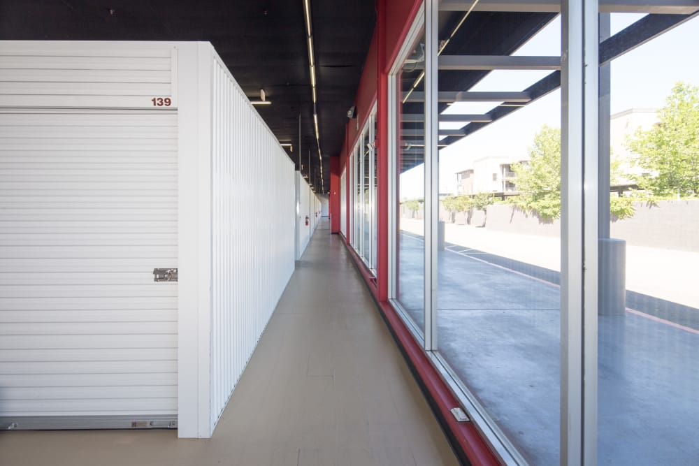 Climate-controlled units at Trojan Storage in Sacramento, California