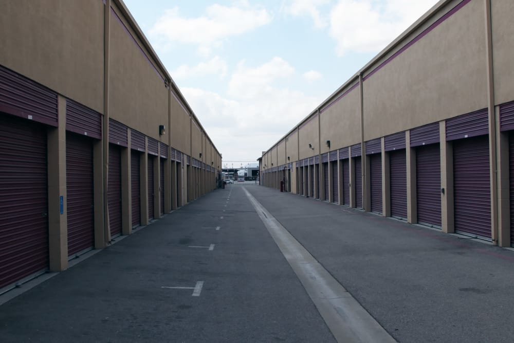Outdoor units at Trojan Storage in Sun Valley, California