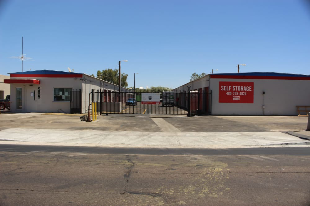 Front entrance to Trojan Storage in Tempe, Arizona