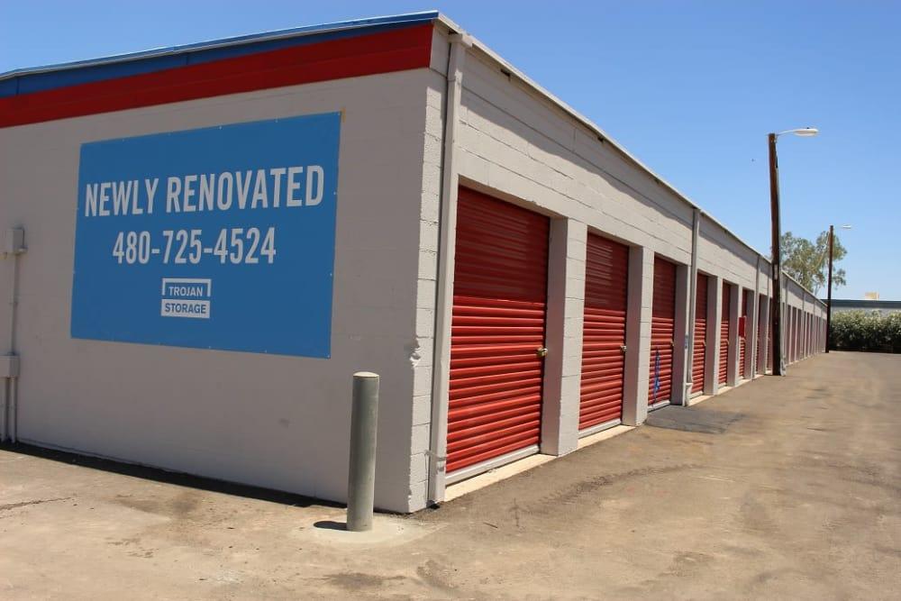 Exterior units at Trojan Storage in Tempe, Arizona