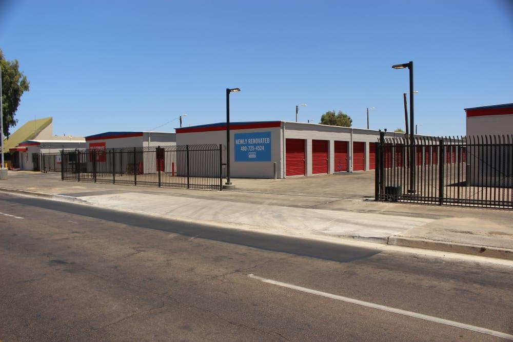 Ground-floor units at Trojan Storage in Tempe, Arizona