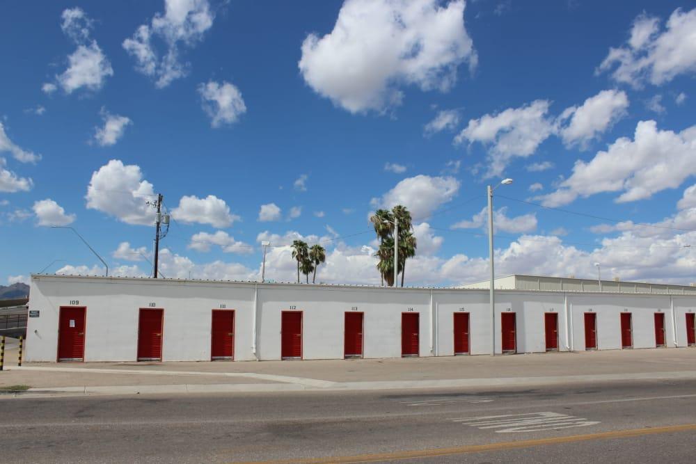 Front entrance to Trojan Storage in Tucson, Arizona