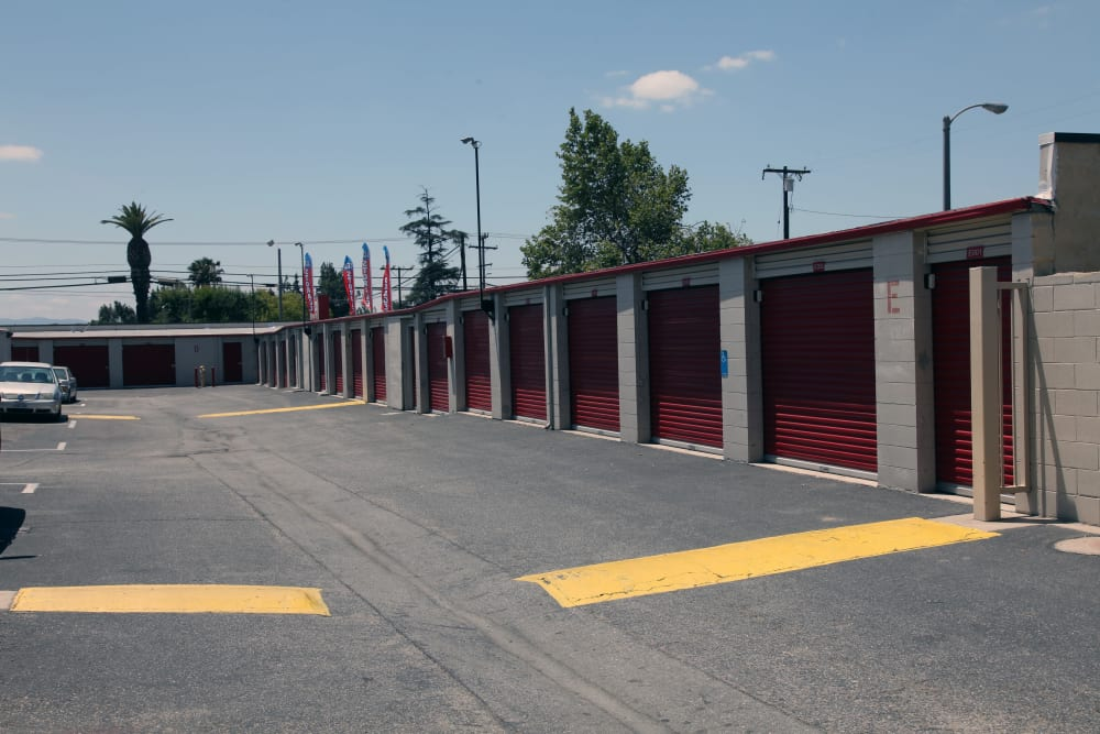 Gated security at Trojan Storage in Ontario, California