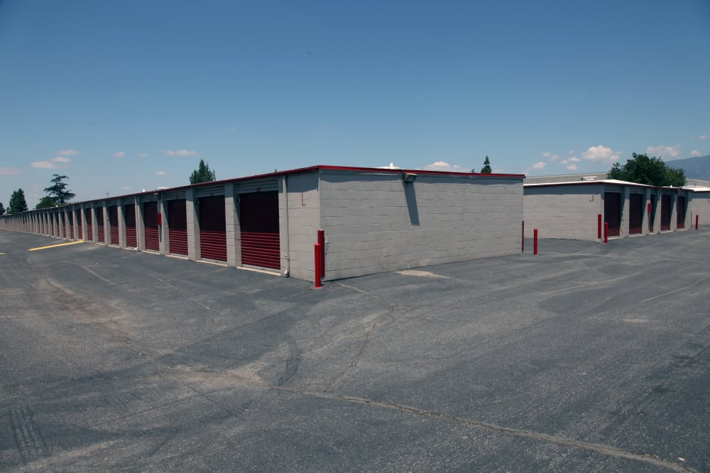 Ample parking at Trojan Storage in Ontario, California