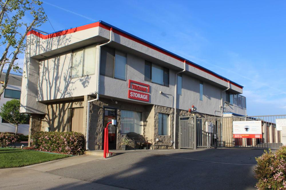 Main entrance at Trojan Storage in Ontario, California