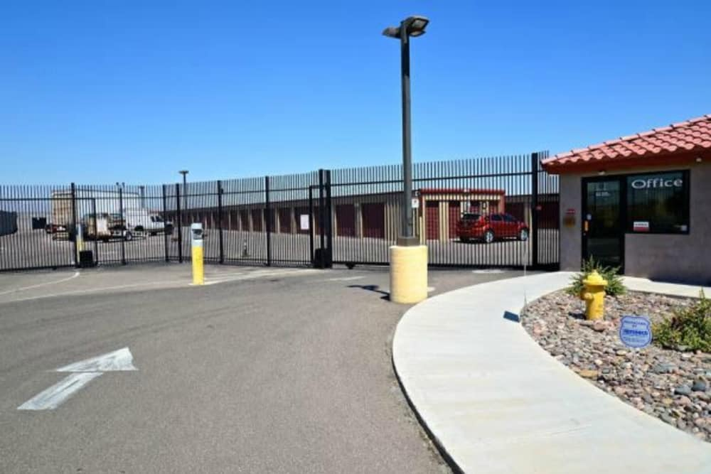 Front entrance to Trojan Storage in Youngtown, Arizona