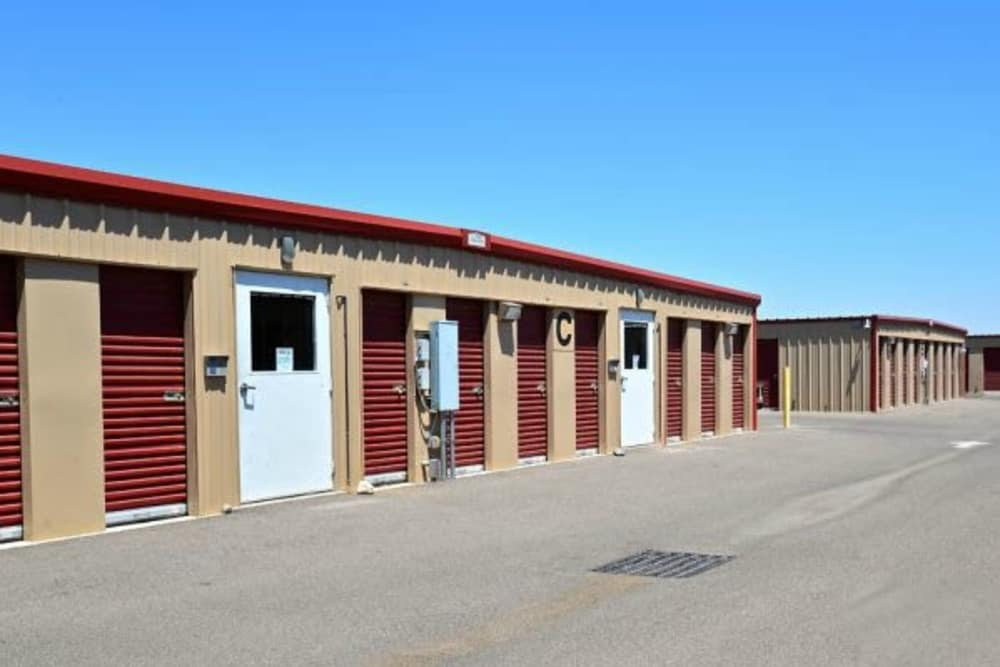 Outdoor units at Trojan Storage in Youngtown, Arizona