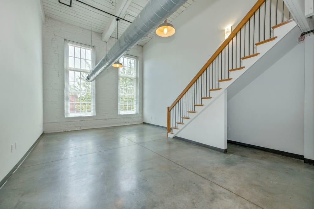 Interior of our apartments at Highland Mill Lofts in Charlotte, North Carolina
