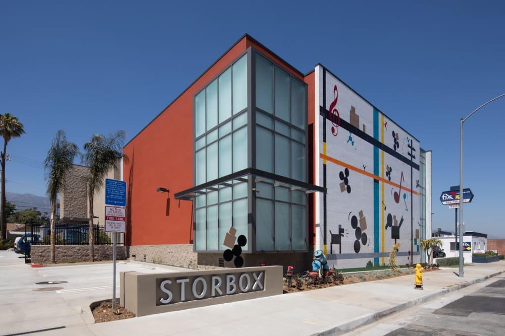 Exterior of STORBOX Self Storage in Pasadena, California