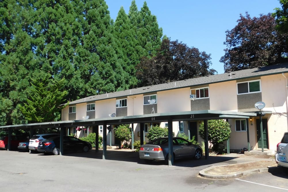 Our apartments in Eugene, Oregon offer covered parking