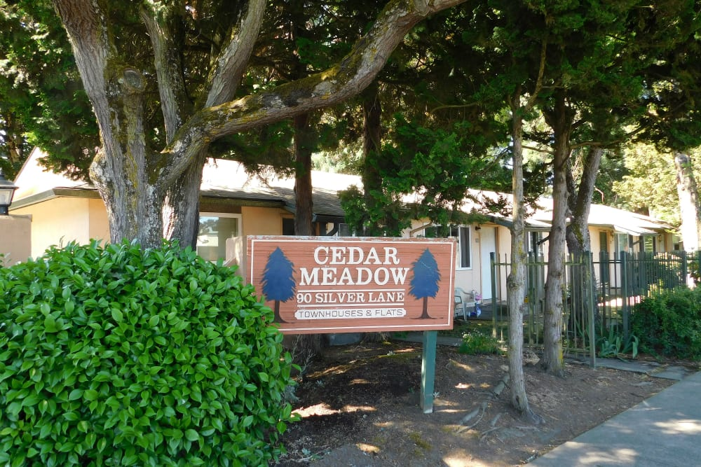 Sign at  Eugene, Oregon