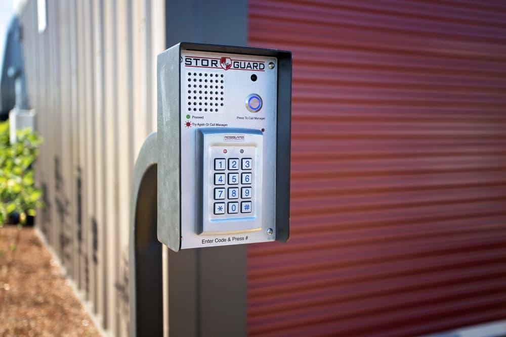 Security feature at Nest Self Storage in Salem, Oregon