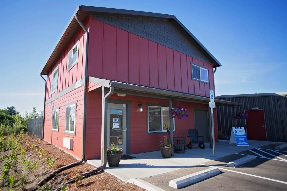 Building entrance at Nest Self Storage in Salem, Oregon