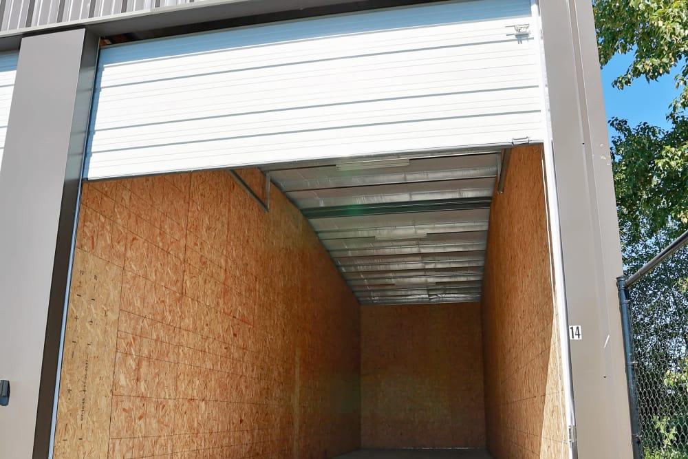 Open Storage unit at Nest Self Storage in Salem, Oregon