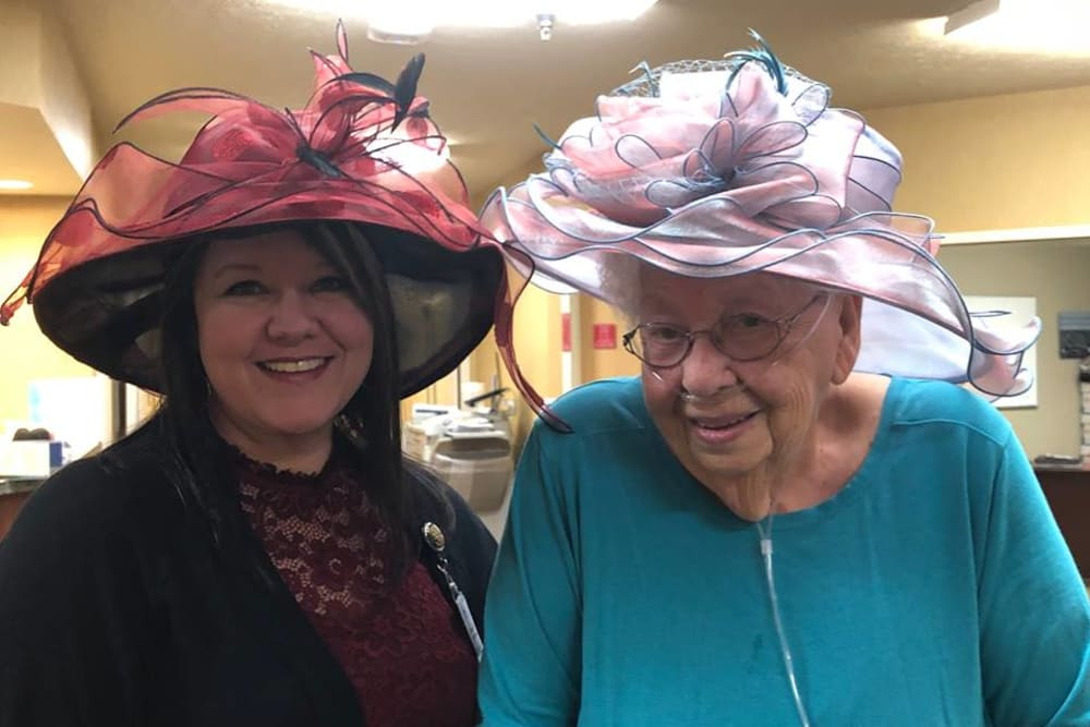 Residents having fun at Mill Pond Health Campus in Greencastle, Indiana