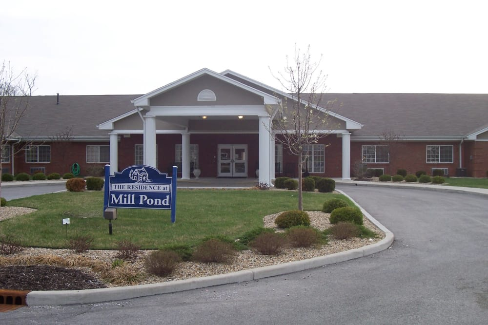 Facade at Mill Pond Health Campus in Greencastle, Indiana