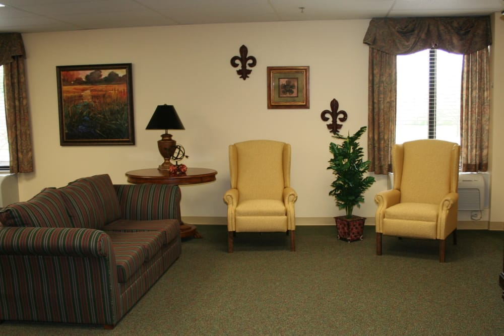 Living room at Park Terrace Health Campus in Louisville, Kentucky